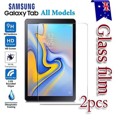 AU4.99 • Buy 2X For Samsung Galaxy Tab A6 7.0 10.1 A 10.5 S4 Tempered Glass Screen Protector