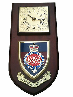 Grenadier Guards Regimental Military Wall Plaque & Clock • 29.99£