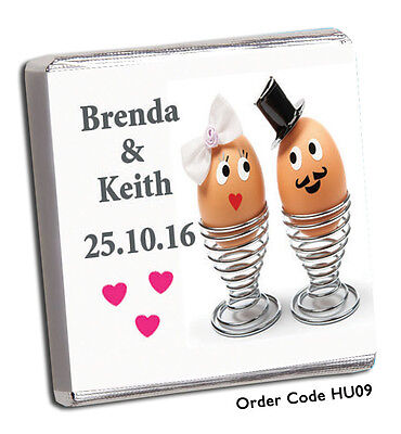 £23.98 • Buy 100 Personalised Chocolate Wedding Favours, Rush Orders Welcome!!  **FREE P+P**