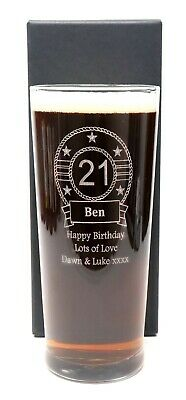 £12.99 • Buy Personalised/Engraved Birthday Pint Glass Gift For 18th/21st/30th/40th/Men/Boys