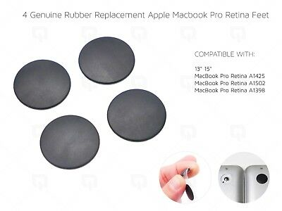 £4.99 • Buy Apple MacBook Pro Retina REAL Rubber Feet & Strong Adhesive A1398/A1425/A1502