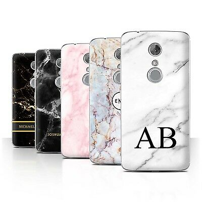 AU10.90 • Buy Personalised Marble Case For ZTE Axon 7/Axon 2/Name/Initial Custom DIY Cover