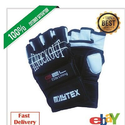 AU24.99 • Buy Authentic Leather MMA Boxing  Gloves 7OZ, Gel Integrated, Genuine Cow Hide