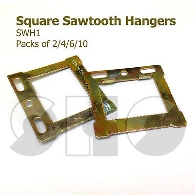 CWH1 Square Sawtooth HANGERS For CANVAS/Frames With Hollow Backs 2/4/6/10  • 1.65£