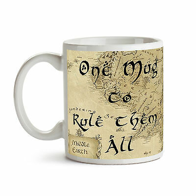 One Mug To Rule Them All Ceramic Coffee Tea Mug Cup Lord Of The Rings Hobbit New • 9.99£