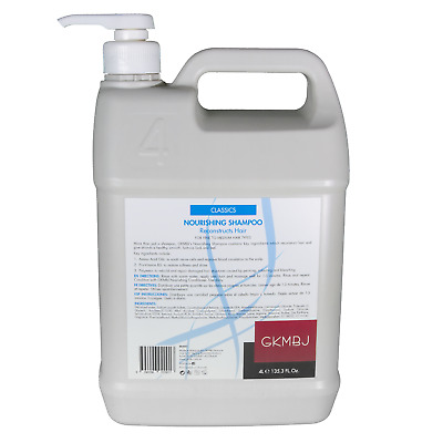 AU89.95 • Buy GKMBJ  Nourishing Shampoo 4 Litre With And Pump - Reconstructs Hair - Rebuilds