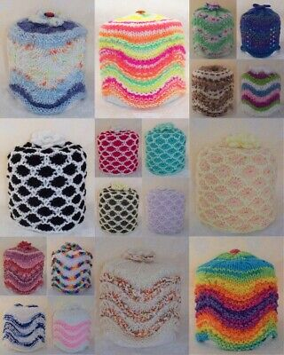 Brand New Hand Knitted Toilet Roll Cover ~ Choice Of Style & Colour • 4.99£