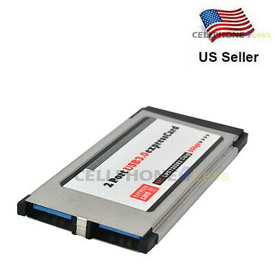 $12.98 • Buy PCI Express Card To USB 3.0 2 Port Adapter 34 Mm Converter