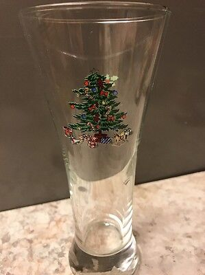 $8 • Buy Tienshan Holiday Hostess Christmas Tree Pilsner Beer Glass 7.25