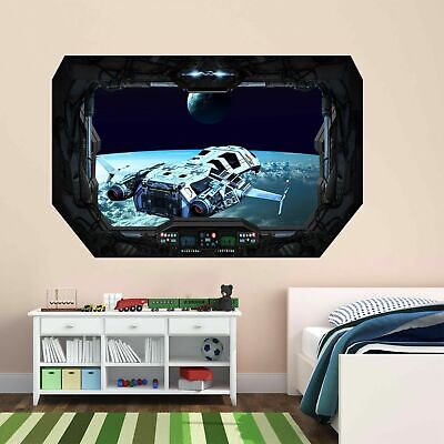 Starship Wall Art Sticker Mural Decal With 3D Spacecraft Window Effect BD12 • 14.99£