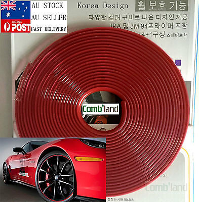 AU18.99 • Buy Red 8M Car Wheel Rim Protector Tire Guard  Rubber Moulding Adhesion Promoter