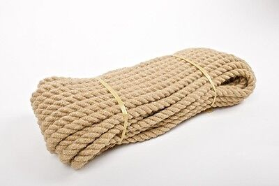10mm Natural Jute Hessian Rope Cord Twine Braided Twisted Boating Garden Decking • 0.99£