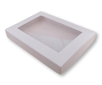 5 White A6 Window Boxes, Gift, Greeting Cards, Etc • 4.99£