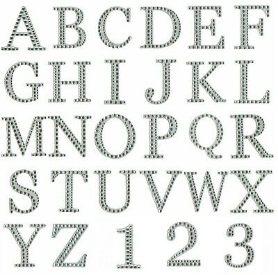 5cm Self Adhesive Diamante Number Stickers Craft Card Making Birthday Age Gem • 1.49£