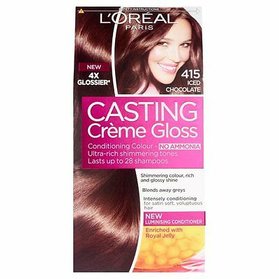 L'oreal Paris CASTING Creme Gloss Semi-Permanent Colour 415 Iced Chocolate • 9.79£