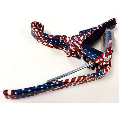 $ CDN24.99 • Buy Kyser Quick Change Acoustic Guitar Capo American Flag Freedom KG6F