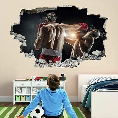 £22.99 • Buy Boxing Boxer Training 3D Wall Art Sticker Mural Decal Poster Kids Room Decor BH4