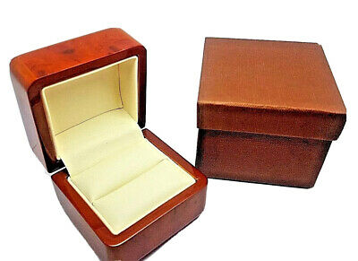Luxury Real Wood Walnut Proposal Engagement Wooden Ring Box HALF PRICE WEEKEND  • 24.99£