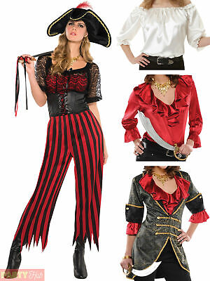 Ladies Pirate Costume Adults Caribbean Wench Fancy Dress Accessory Womens Outfit • 14.50£