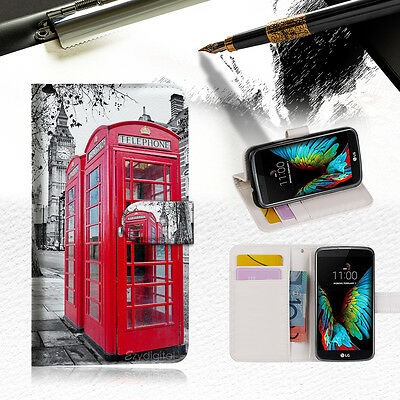 AU12.99 • Buy British Phone Booth Wallet Case Cover For ZTE AXON 7 Mini --A025
