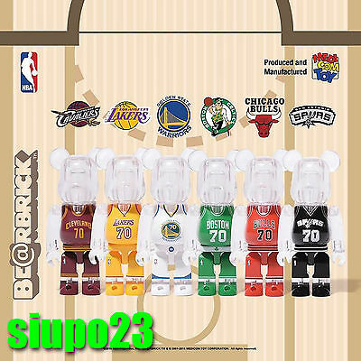 $279.99 • Buy Medicom 100% Bearbrick ~ NBA X Milk Magazine Be@rbrick Full Set 6pcs