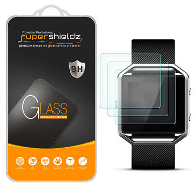 $ CDN10.14 • Buy 3X Supershieldz For Fitbit Blaze Tempered Glass Screen Protector Saver