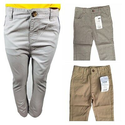 £2.99 • Buy Boys Kids Lcwaikiki 100% Cotton Colour Trousers Pants Toddler Summer Baby 6M- 4Y
