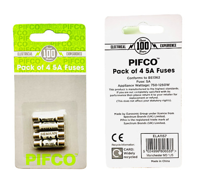 5 Amp Fuse Household Replacement 5A BS 1362 Fuses 4pcs UK Seller • 1.89£
