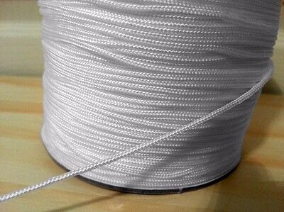 2mm Roman Austrian Blind Cord Smooth White Festoon Curtain String Pull Strong • 1.59£