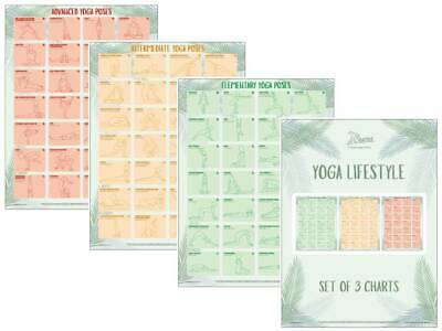 Yoga Exercise Posters Yoga Positions Fitness Charts  • 24.99£