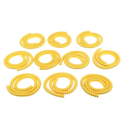 1000x Yellow Cable Marker Identification Labels Tags Managment NO 0~9 2.5mm² • 4.99£