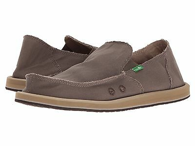 Men's Shoes Sanuk VAGABOND Slip On Canvas Sidewalk Surfers SMF1001 BRINDLE • 34.97£