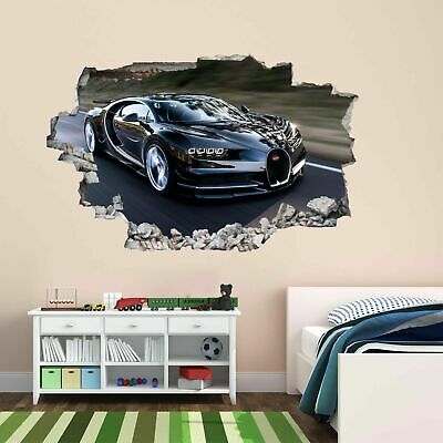 Bugatti Super Sports Car Wall Sticker Mural Decal Kids Bedroom Home Office BC13 • 22.99£