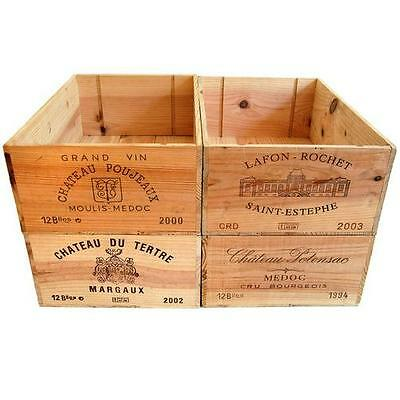 12 Bottle Size - Wooden Wine Box Crate For Vintage Shabby Chic Home Storage */* • 16.95£