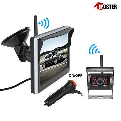 AU88.99 • Buy 2.4GHz HD Wireless CCD Camera 5  Monitor Reverse For Horse Float CCD Monitor Kit