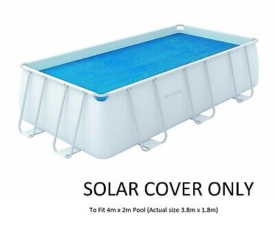 £29.99 • Buy Bestway SOLAR COVER Rectangular Swimming Pool Fits 4m X2m 13.5ft KEEP WATER WARM