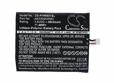 $18.59 • Buy Cameron Sino 3000mAh Battery For Philips W8510 Xenium W8510