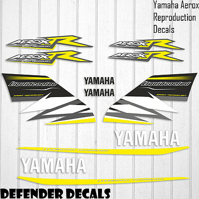 Yamaha Aerox Liquidcooled Decals Stickers Graphics Kit Scooter Reproduction • 44.99£