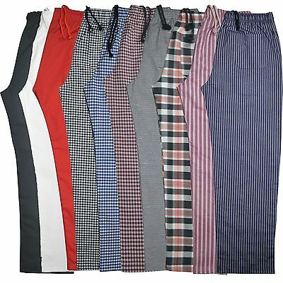 £10.99 • Buy Striped Chef Trousers Excellent Quality Pants 3 Pockets Unisex Crazy Prices!!!