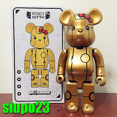 $199.99 • Buy Medicom 400% Bearbrick ~ Action City Hello Kitty Be@rbrick Robot Kitty Gold Ver