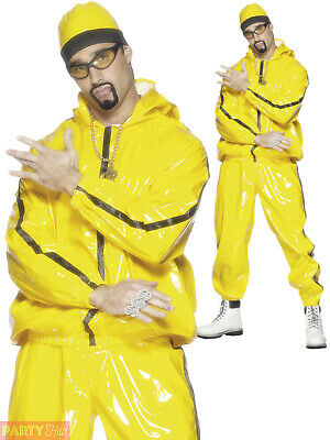 AU73.95 • Buy Mens 90s Rapper Suit Costume Adults Ali G Fancy Dress Scouser Gangster Outfit