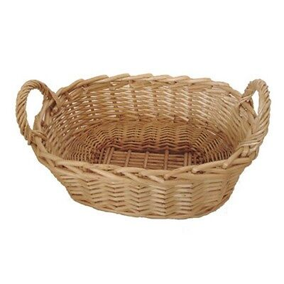 Natural Wicker Bread Baquette Basket Food Serving Oblong Storage Display Tray • 6.99£