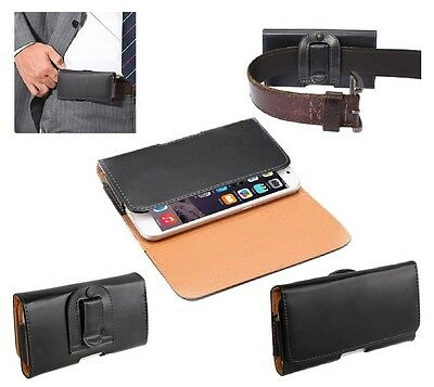 For ZTE TANIA Case Belt Clip Smooth Synthetic Leather Horizontal Premium • 20.95£