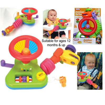 £10.99 • Buy JUNIOR DRIVER CAR Steering Wheel Activity Toy Buggy Stroller Baby Seat 12 Month+