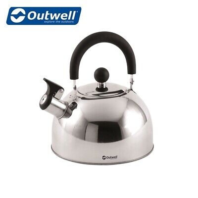 Outwell Stove Camping Whistling Tea Break Kettle Stainless Steel Sizes / Colours • 10.49£