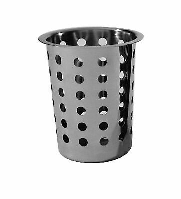 AU11.95 • Buy NEW STAINLESS STEEL CUTLERY HOLDER Perforated Basket Caddy Utensil Gadget SS