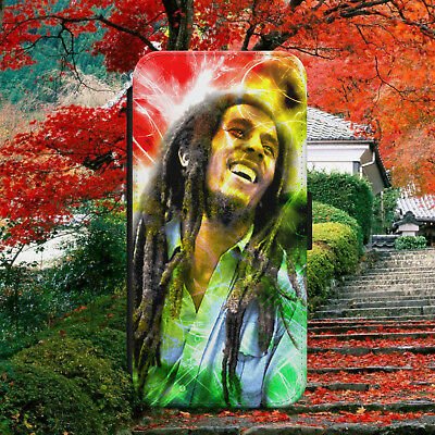 Bob Marley Jamaican Legend Flip Wallet Phone Case Cover For Iphone Samsung Model • 8.79£