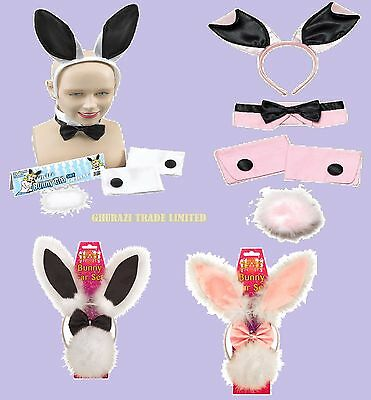 £5.49 • Buy Easter Bunny Girl Rabbit 3 & 5 Pieces Ear Set Hen Night, Stag Party Fancy Dress