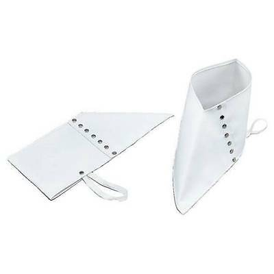 White Spats Shoe Covers Gangster 1920s Fancy Dress Costume Accessory • 4.25£