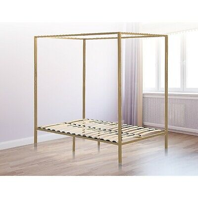 AU235.95 • Buy 4 Four Poster Queen Bed Frame Bedroom Furniture